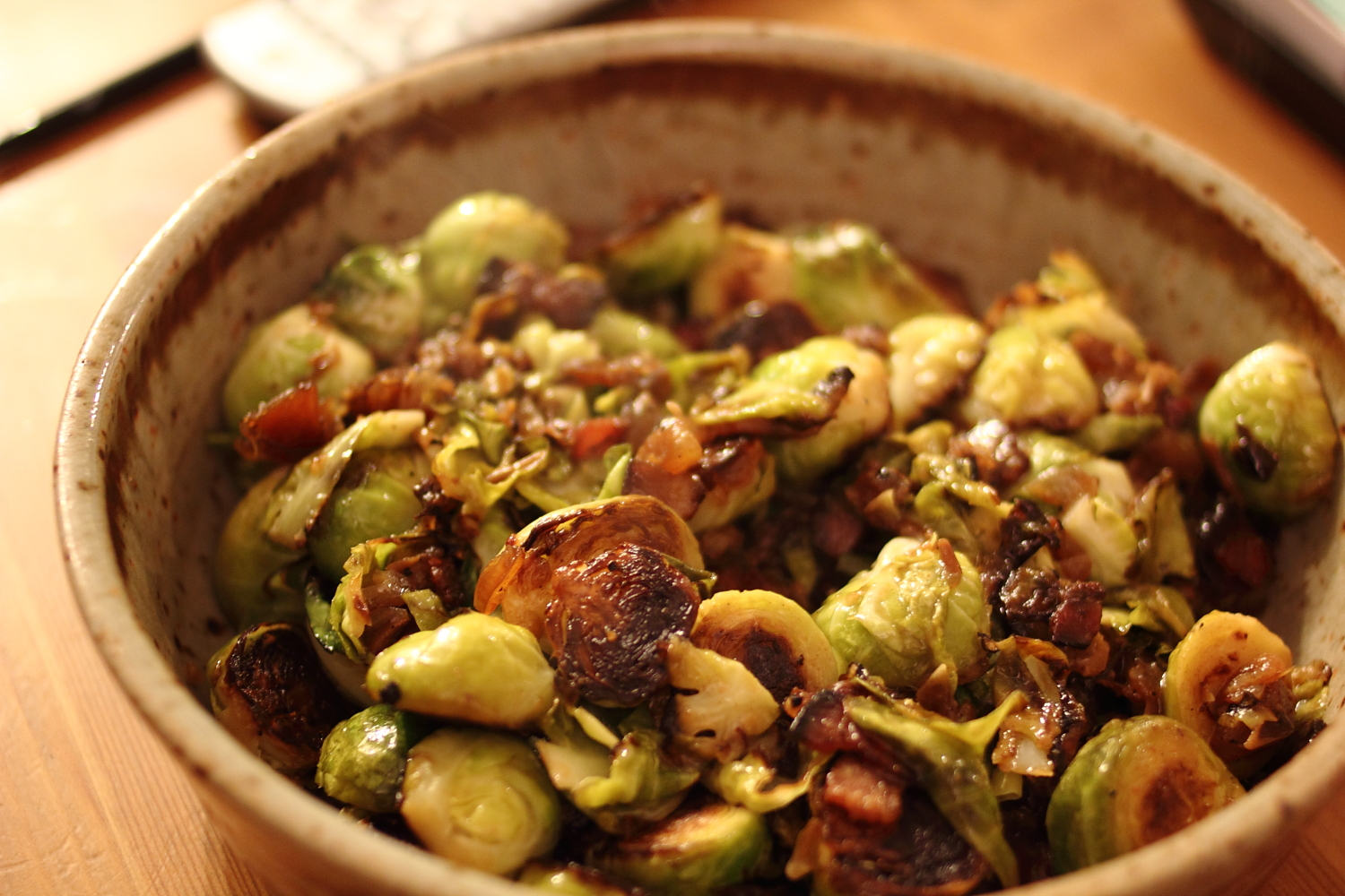 Smith's Brussels sprouts with bacon and dates | LKJC Berlin